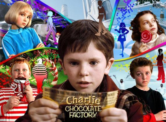 """تصويرات الاستهلاك والرأسمالية في فيلم """"تشارلي ومصنع الشوكولاتة"""""""